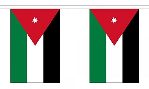 Jordan Flag 6 m Girlande 22 x 15 cm (22.86 cm x 12.70 cm)