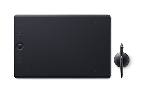 Foto Wacom Intuos Pro Large Tavoletta Grafica con penna sensibile alla pressione / Tasti di comando personalizzabili / kit wireless incluso / Per Mac e PC Windows / Nero