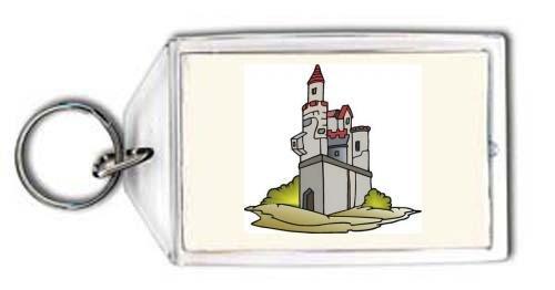 Schlüsselhalter mit der Grafik: Burg, Bau, Europa, Palace, Struktur, Architektur, Haus, Griechenland, Heim, Gebäude, Wohnung, Herrenhaus, Denkmal (Strukturen, Architektur)