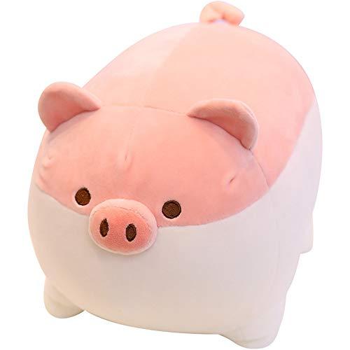 ❤️LILICAT Plüschtiere 40cm Squint Cochon en Peluche Peluche Poupée Coussin Super Doux Jouet Oreiller Enfants Cadeau (Rose,Marron)