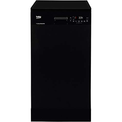 Beko DFS28R20B 10 Place Slimline Freestanding Dishwasher With Quick Programmes & And Efficient Motor - Black