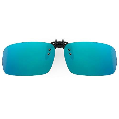 Cyxus Flash Objektiv Polarisierte Spiegel rechteckig Sonnenbrille Clip-UV-Schutz-Brille [Anti-Glare] [Brillen] fahren/Fischerei, Männer und Frauen