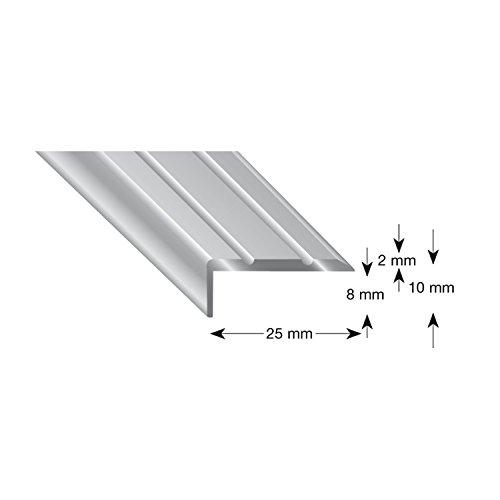Kügele 105B SD 100S Treppenwinkel Alu sand eloxiert, selbstklebend, 25/10/1000 mm - Sand Parkett