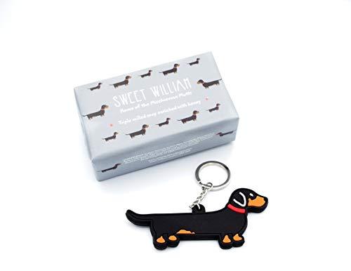 Dog Walkers Mini-Geschenkset mit Seife und Schlüsselanhänger, Dackel -