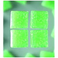 MosaixPro 200g 20x 20x 4mm 63-Piece Glas Fliesen, hellgrün
