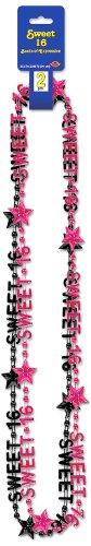 Beistle Sweet 16Perlen aus Expression Halskette Ceranfeldabdeckung, 89cm