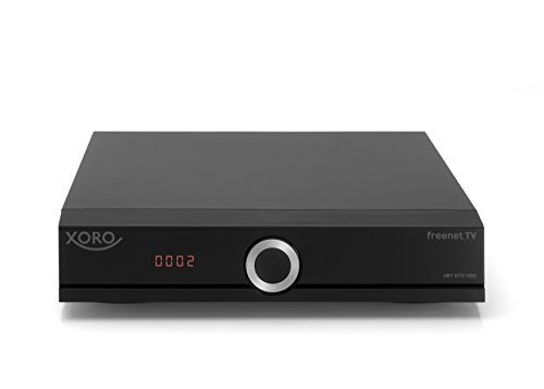 Xoro HRT 8772 HDD 1TB Full-HD DVB-T2 Receiver (HEVC H.265 TWIN Tuner, Irdeto Cloaked CA für freenet TV, inkl. 1TB SATA Festplatte im FP-Schacht, , HDMI, USB PVR Ready,  S/PDIF opt., MiniSCART, 12V) schwarz