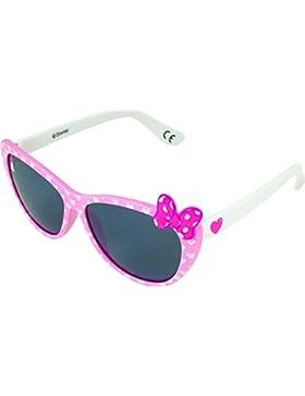 Occhiali da sole Disney Minnie Mouse rosa e bianco.