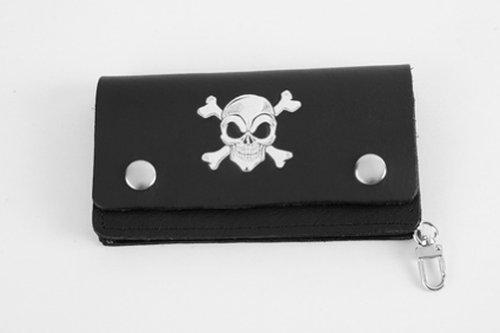 Portafoglio Pelle Teschio Skull Biker Custom