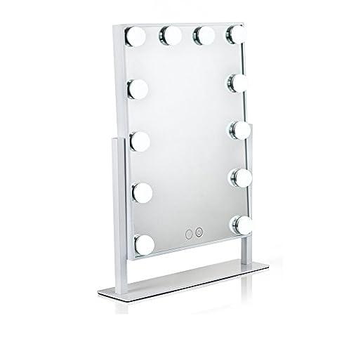 WanEway Hollywood Kosmetikspiegel Schminkspiegel mit LED Beleuchtung, Standspiegel Tischspiegel LED