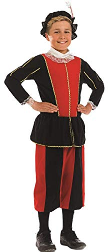 ück Rot Schwarz König Henry VIII 8th Büchertag Königliches Tudor Kostüm Kleid Outfit 4-12 Jahre - Rot/schwarz, 4-6 Years, Rot/schwarz ()
