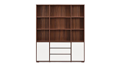 Urban Ladder Iwaki Triple Bookshelf (Walnut)