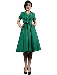 08804698ccd pentagramme - Miss marylin Robe Crayon Rockabilly 50 s Vert pour Femme