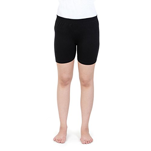 Bonjour Girls Seamless Under Skirts in Black Color-(16 Years & Above)