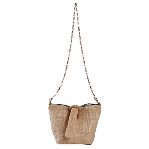 LLZIYAN Stroh Tote Bag Schulter Crossbody Tasche Mode Weave Handtaschen Sommer Strandtasche Kreatives Geschenk Für Frauen -