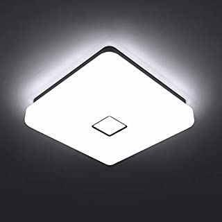Onforu 24w LED Ceiling Light, 2100 LM IP65 Waterproof Super Bright Flush Square Bathroom Lights, 90 CRI 5000K Daylight White Wall Mounted Ceiling Lamp for Living Room, Bedroom, Kitchen