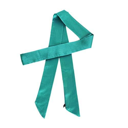 Casecover Frauen Silk Dünner Schal Plain Handgriff Ribbon Schmale Halstücher Für Mädchen Armband Stirnband Hair Styling-Werkzeug Ribbon Jeans Hose