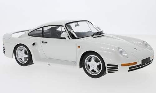Porsche 959, Metallic-Blanche, 1987, Voiture Miniature, Miniature déjà montée, Minichamps 1:18 | à L'aise