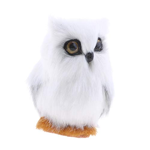 Garden Statues & Sculptures - Artificial Animal White Owl Home Decoration Gift Toy Handcraft Realistic - Cat Sculptures Anime Peac Life Owl Doll Garden School Bambi Decor White Movie Dab Is (Soft Doll Ballerina)