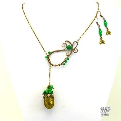 Parure Stejar – jade véritable et bronze
