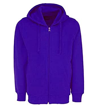 Prokick Kid's Rich Cotton Full Sleeves Zipper Jacket with Hoodies for Girls and Boys, Blue - 4-5YRS
