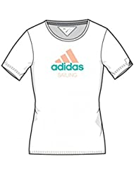Adidas Sailing Performance Logo Shirt Women, Couleur:White;Taille:XL