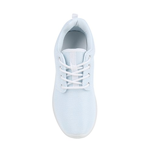 Damen Herren Sneaker Sportschuhe schwarz Turnschuhe Runners mit Blumen Print in mehreren Farben Weiss Total