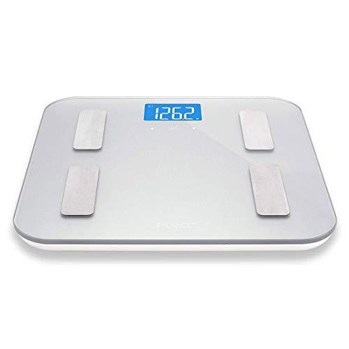 UKE Digital-Körpergewicht-Badezimmerwaage, Digital-Badezimmerwaage-Bluetooth-Körperfett-intelligente Digital-Badezimmer-drahtlose Gewichts-Skala