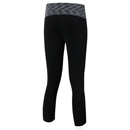 Nanxson(TM) Femmes Leggings/Pantalon Collant À Séchage Rapide Pour Sport Fitness Yoga Jogging YDKW0017 Noir