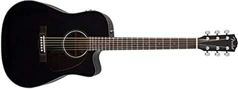 Fender 0961514006 CD-140SCE Cutaway Solid Spruce Top Electric Guitar - Black Gloss