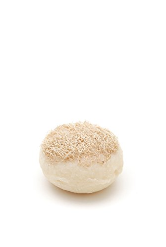 Fair Trade, Handmade Natural Olive Oil Round Loofah Soap -