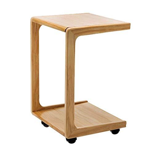 WQZB-Tabelle Laptop-Schreibtisch Einstellbare U-förmigen Kleinen Couchtisch Laptop Tray Massivholz Kleinen Schreibtisch Holz Handwerk Material Schreibtisch für Sofa/Schlafzimmer / Overbed (gelb) - , U-förmigen Schreibtisch