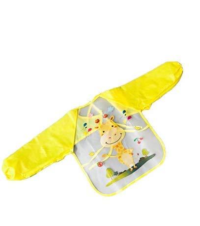 AK.SSI Kinder gedruckt wasserdicht Anti-Dressing Cartoon Kittel Baby Einweg Langarm Lätzchen 1pcs - Kind-kittel Einweg