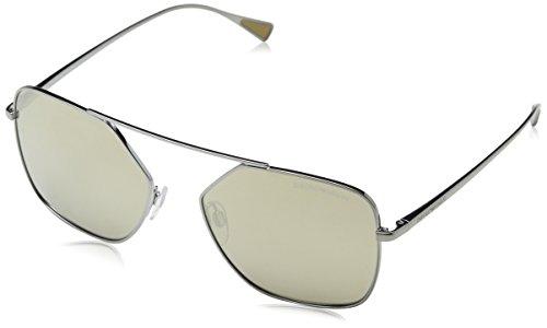 Emporio Armani Herren 0EA2053 Sonnenbrille, Braun (Gunmetal), 56
