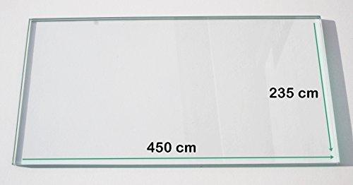 Kühlschrank Einlegeboden / Glasplatte / Gemüsefach – Klarglas 4 mm dick - 450 mm x 235 – Direkt vom Glasereifachbetrieb!!!