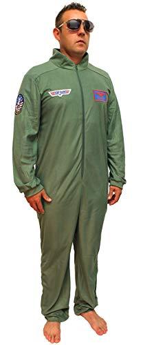 �m für Erwachsene, Union Anzug, Pyjama, Liege - Grün - Large ()