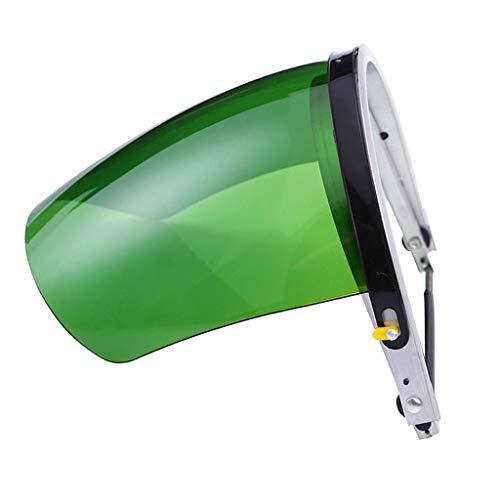 Sharplace maschera casco saldatura auto oscurante occhi viso lati protettivo solare plastica ingegneria lega alluminio - verde
