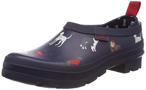 Joules Damen Pop On Gummistiefel, Blau (Navy Dogs Navdogs), 38 EU