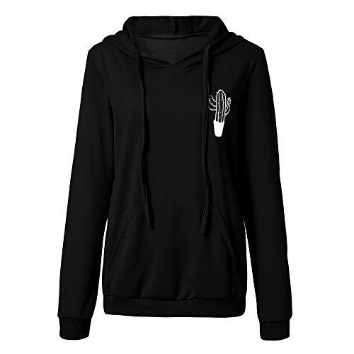 TOPKEAL  Brief drucken Hoodie Pullover Damen Herbst Winter Kapuzenpullover Lässige Sweatshirt Langarm Winterpullover mit Kapuze Jacke Mantel Tops Mode 2019 -