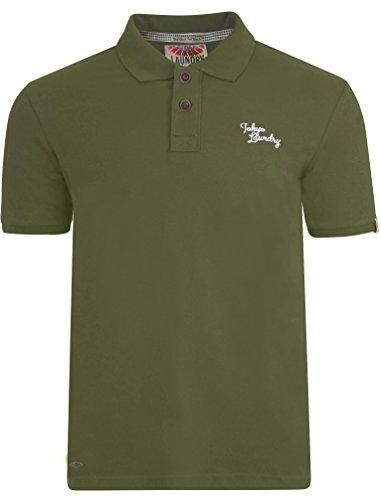Tokyo Laundry Herren Florenzi Kragen Piqué Kurzarm Basic Poloshirt Größe S-XXL Khaki Marl