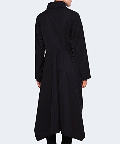 Xenia Design Damen Rosi Taft Trenchcoat Schwarz Schwarz
