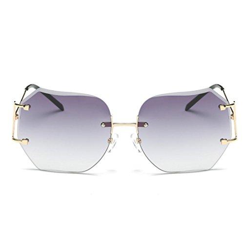 OverDose Damensonnenbrille Frauen Herren Sommer Weinlese Retro quadratische Steigungs Farben-Gläser Unisexart und weise Avi Sonnenbrille (D)
