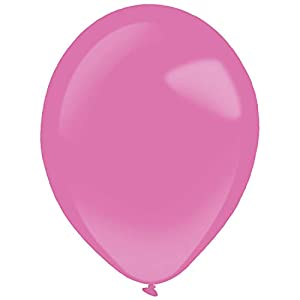 amscan 9905374 - Globos de látex (50 Unidades), Color Rosa