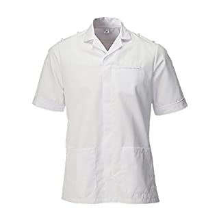Alsico Male Tunic With Epaulette Loops (48, White)