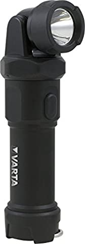 Varta 3 Watt LED Indestructible Swivel Light Taschenlampe inkl. 4x High Energy AA Batterien Flashlight extrem robuste Aluminium-Titan-Legierung (Falltest 4m) spritzwassergeschütztes Gehäuse (IPX4) beweglicher, schenkbarer Leuchtenkopf
