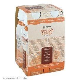 FRESUBIN ENERGY Drink Schokolade Trinkflasche, 4X200 ml (Energy-drinks Für Kinder)