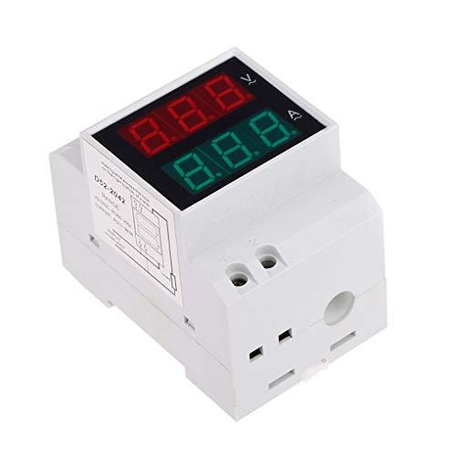 Hotaluyt D52-2042 DIN Rail Voltmeter Amperemeter AC200-450V 100A Digital AC Spannung Stromzähler Industrie Elektrik V/A Tester