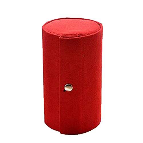TDFGCR Schmuckschatulle-Speicher-Organisator-Kasten-Ring-Ohrring-Halskette-rot