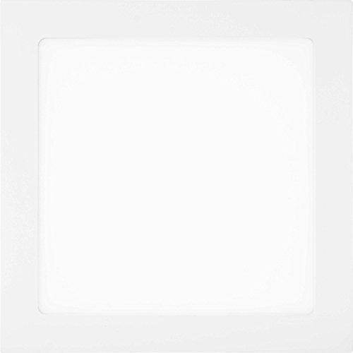 LUMIRA 18W Ultra-Slim LED Panel, Quadratisch 22,5x22,5cm, Einbau-Strahler, Decken-Lampe, Decken-Leuchte, 18 Watt Leistung, Ersatz für 100W Leuchtstoffröhren, Rahmenfarbe Weiß, inkl. Montage Befestigungs-Klammern und Trafo, 1350 Lumen, 3000 Kelvin, Warmweiß (Einbauleuchten-gehäuse-kit)