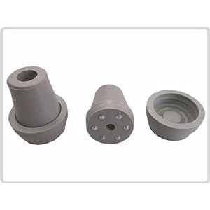 Krückenkapseln mit Spikes, 16 mm,18mm oder 20mm grau, inkl. Schutzkappe *Top-Qualität*